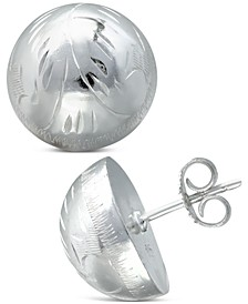 Etched Stud Earrings in Sterling Silver, Created for Macy's