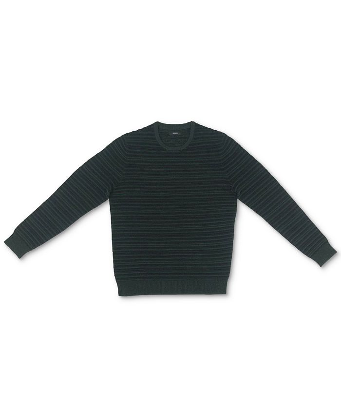 Alfani - Men's Ottoman Textured Crewneck Sweater