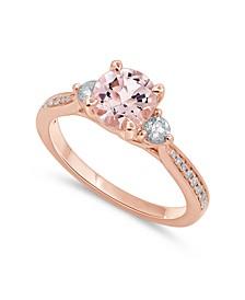 Gemstone Bridal Morganite (1 1/4 ct. t.w.) & Diamond (1/3 ct. t.w.) Engagement Ring in 14k Rose Gold