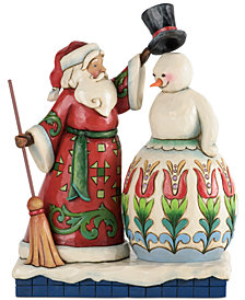 Jim Shore Santa Making Snowman Collectible Figurine