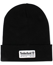 Men's Slouch Patch Logo Beanie