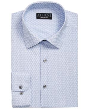 Alfani Men's Classic/Regular-Fit Performance Stretch Geo-Print Dress Shirt, Created for Macy's