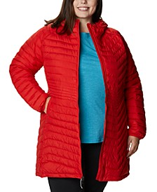 Plus Size Quilted Midi Jacket