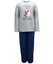 Matching Men's Big & Tall Fleece Navidad Family Pajama Set, Created for Macy's