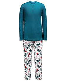 Matching Men's Mitten-Print Family Pajama Set, Created for Macy's