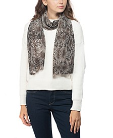Cashmere Snake-Embossed Muffler Scarf, Created for Macy's