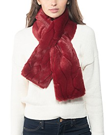 INC Embossed Faux-Fur Stole, Created for Macy's