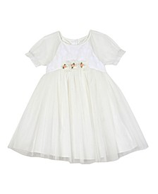 Baby Girls Embroidered Mesh Top and Skirt