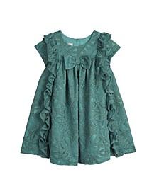 Baby Girls Lace with Ruffle Trim Dress