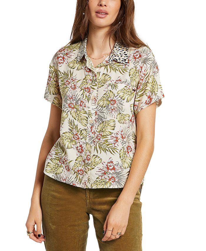 Volcom - Juniors Sorry Babe Mixed Print Shirt