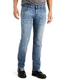INC Men's Slim Straight Ripped Jeans, Created for Macy's