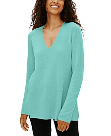 V-Neck Sweater, Regular & Petite