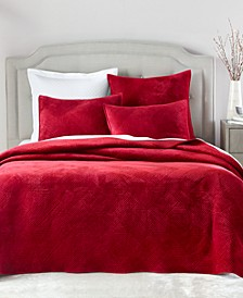 Velvet 3 pc King Coverlet, Created for Macy's