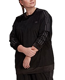 Plus Size Corduroy Crewneck Pullover