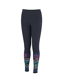 Big Girls Linear Graphic Leggings