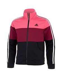 Big Girls Zip Front Tricot Jacket