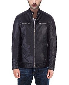 XRAY Men's Quilted Faux-Leather Jacket