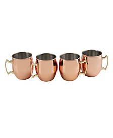 20 oz Smooth Copper Moscow Mule Mugs - Set of 4