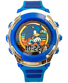 Kid's Sonic Digital Blue Silicone Strap Watch 38mm