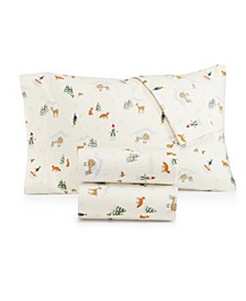 Printed Cotton Flannel 4-Pc. King Sheet Set, Created for Macy's