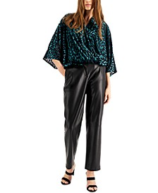 Burnout Surplice Top, Created for Macy's