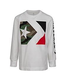 Big Boys Camo Print Star Chevron Logo T-shirt
