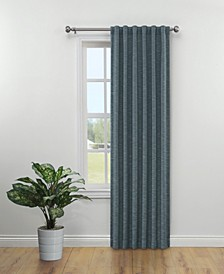 "Cedrick Thermal Weave Room Darkening Back Tab Curtain Panel By Nefeli, 84"" x 52"""