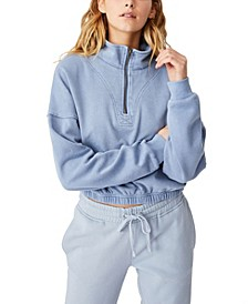 Women's Paris Quarter Zip Thru Sweatshirt