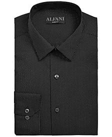 Men's Slim-Fit Dot-Print Dress Shirt, Created for Macy's