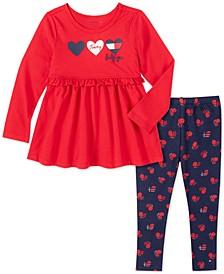 Baby Girls 2-Pc. Hearts Tunic & Leggings Set