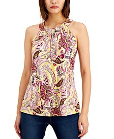 I.N.C. Paisley Print Twist Halter Top, Created for Macy's
