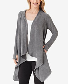 Fleece Long-Sleeve Hooded Wrap