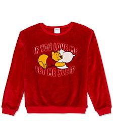 Plush Winnie The Pooh Graphic Sweatshirt