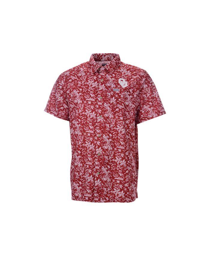 Columbia Oklahoma Sooners Men's Super Slack Tide Button Up Shirt & Reviews - Sports Fan Shop By Lids - Men - Macy's
