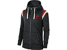 Women's Georgia Bulldogs Gym Vintage Full-Zip Hoodie