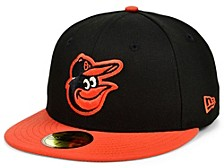 Baltimore Orioles 100th Patch 59FIFTY Cap