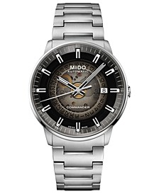 Men's Swiss Automatic Commander Gradient Stainless Steel Bracelet Watch 40mm