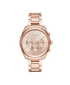 Women's Janelle Rose Gold-Tone Stainless Steel Bracelet Watch 42mm