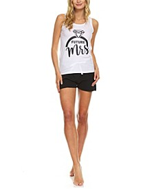Women's Future Mrs Sleeveless Top and Shorts Set