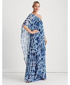 Lauren Ralph Lauren Tie-Dye Georgette Gown