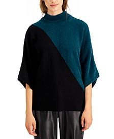 Mixed-Media Dolman-Sleeve Top, Created for Macy's