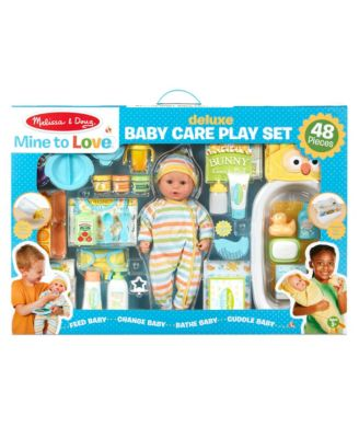 Melissa and Doug Mine to Love Deluxe Baby Care Play Set