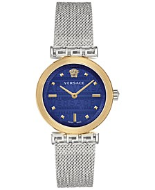 Women's Swiss Meander Stainless Steel Mesh Bracelet Watch 34mm