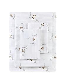 Augie in Paris Percale Queen Sheet Set