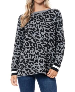 Leopard Jacquard Sweater Tunic