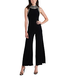 MSK Embellished High-Neck Jumpsuit