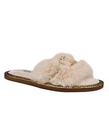 Women's Sannah Furry Sandal Slippers