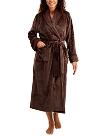 Long Cozy Robe With Faux-Fur Trim, Created for Macy's