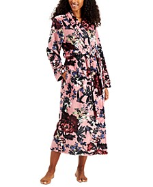 Plush Printed Long Cozy Wrap Robe, Created for Macy's