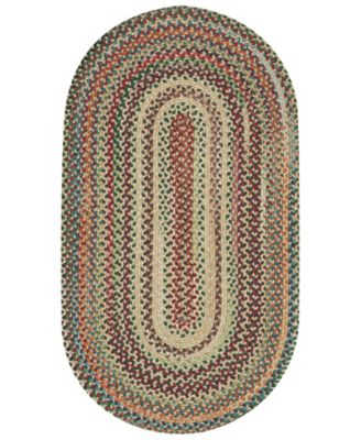 Area Rug, Bear Creek Oval Braid 0980-150 Wheat 3' x 5'